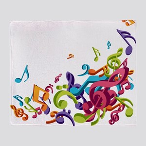Music - Musician - Band - Music Notes Throw Blanke
