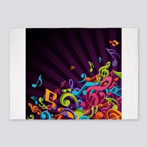 Music - Musician - Band - Music Notes 5'x7'Area Ru