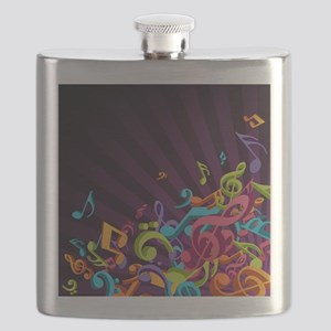 Music - Musician - Band - Music Notes Flask