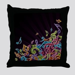 Music - Musician - Band - Music Notes Throw Pillow
