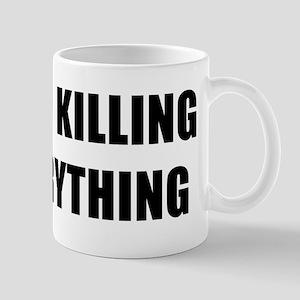 STOP KILLING EVERYTHING - black Mug