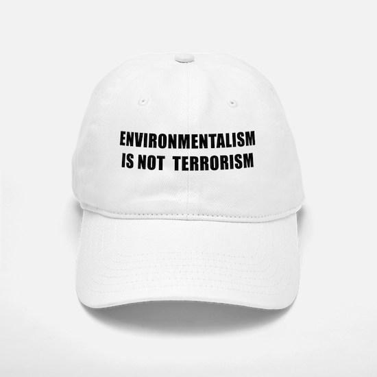 ENVIRONMENTALISM IS NOT TERRORISM - black Baseball
