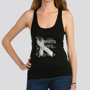 I Wear White for my Son.png Racerback Tank Top