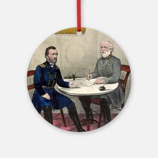 Surrender of Genl. Lee, at Appomattox - 1865 Round