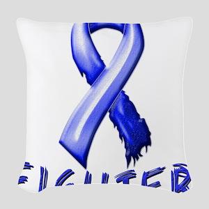 Colon Cancer Fighter Woven Throw Pillow