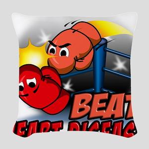 Beat Heart Disease Woven Throw Pillow