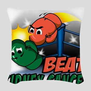 Beat Kidney Cancer Woven Throw Pillow
