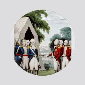 Surrender of Cornwallis - 1845 Round Ornament