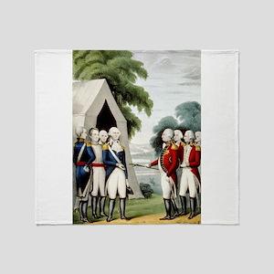 Surrender of Cornwallis - 1845 Throw Blanket