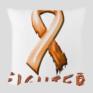 Leukemia Fighter Woven Throw Pillow