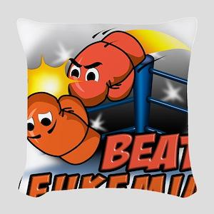 Beat Leukemia Woven Throw Pillow