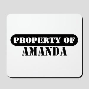 Property of Amanda Mousepad