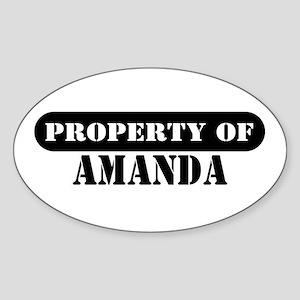 Property of Amanda Oval Sticker