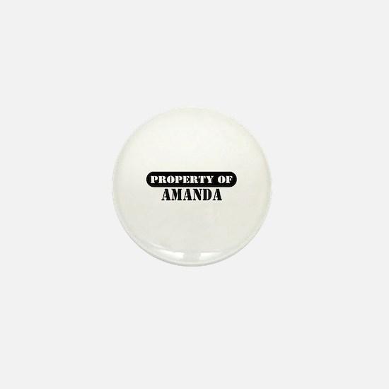Property of Amanda Mini Button