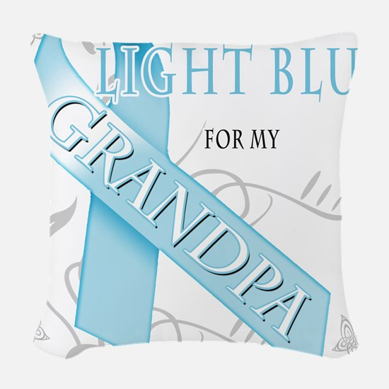 I Wear Light Blue for my Grandpa.png Woven Throw P
