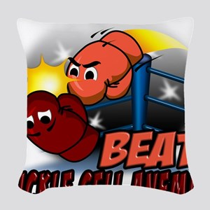 Beat Sickle Cell Anemia Woven Throw Pillow