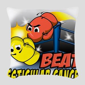 Beat Testicular Cancer Woven Throw Pillow