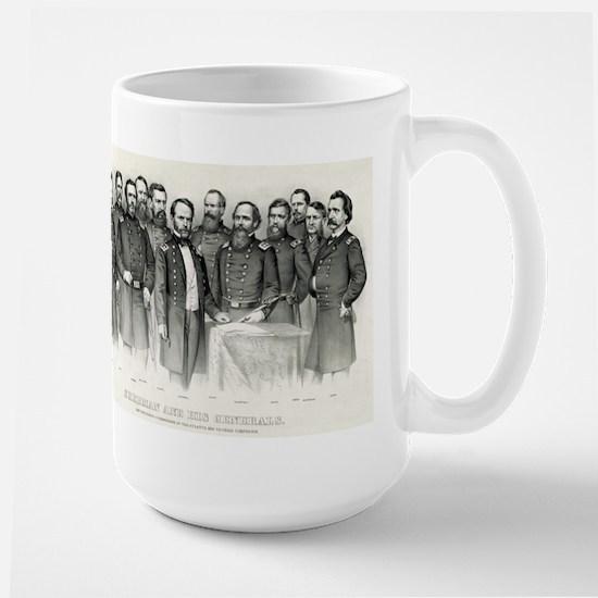 Sherman and his generals - 1865 Mugs
