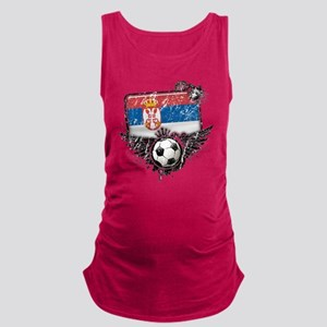 Soccer fan Serbia Maternity Tank Top