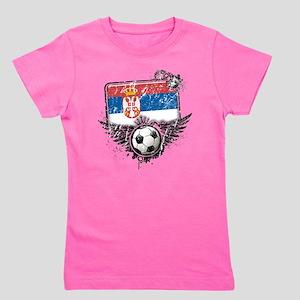 Soccer fan Serbia Girl's Tee