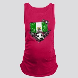 Soccer fan Nigeria Maternity Tank Top