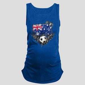 Soccer fans Australia Maternity Tank Top