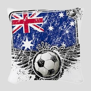 Soccer fans Australia Woven Throw Pillow