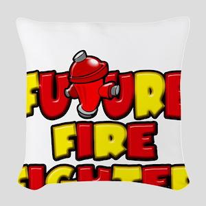 Future Fire Fighter Woven Throw Pillow
