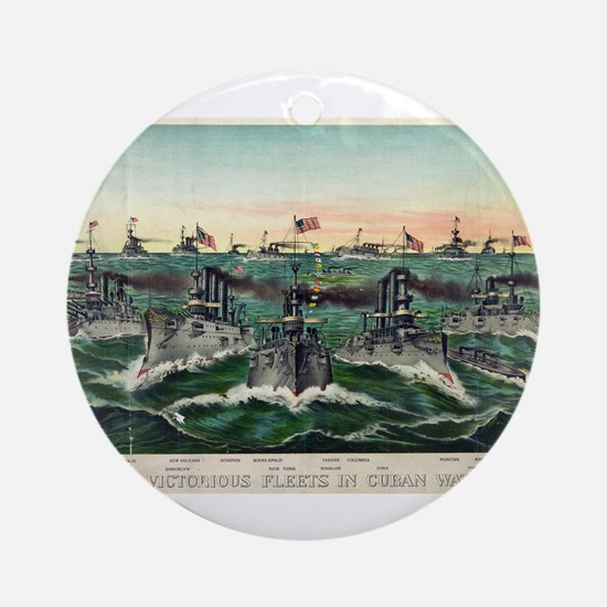 Our victorious fleets in Cuban waters - 1898 Round