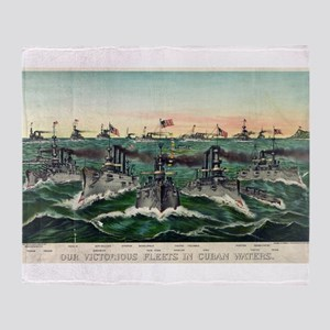 Our victorious fleets in Cuban waters - 1898 Throw