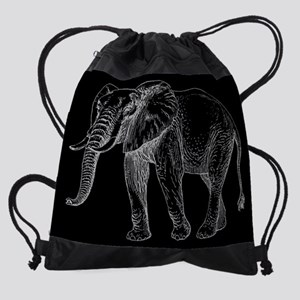 African Elephant Drawstring Bag