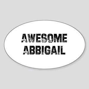 Awesome Abbigail Oval Sticker