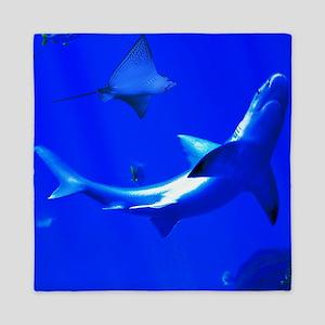 Shark and Stingray Queen Duvet