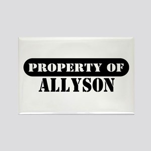 Property of Allyson Rectangle Magnet