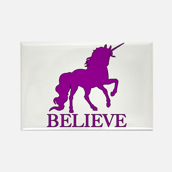 Believe Unicorn Rectangle Magnet