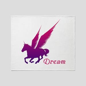 Dream Unicorn Throw Blanket
