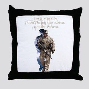 Americans United: Warrior Storm Throw Pillow