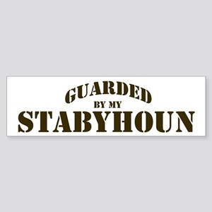Stabyhoun: Guarded by Bumper Sticker