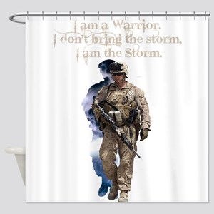 Americans United: Warrior Storm Shower Curtain