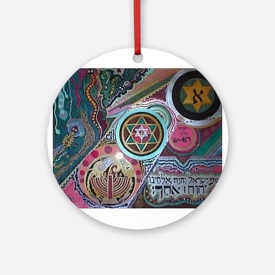 Shema Ornament (Round)
