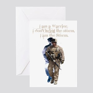 Americans United: Warrior Storm Greeting Cards