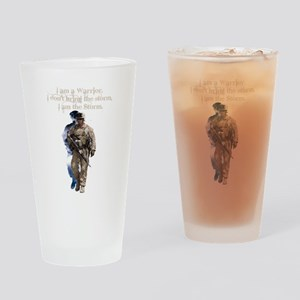 Americans United: Warrior Storm Drinking Glass