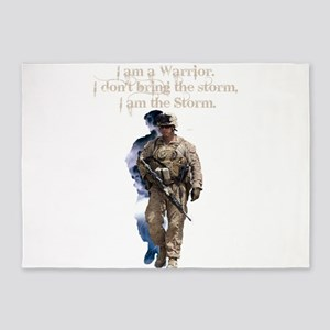 Americans United: Warrior Storm 5'x7'Area Rug