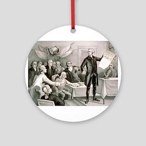 John Hancock's defiance - July 4th 1776 - 1876 Rou