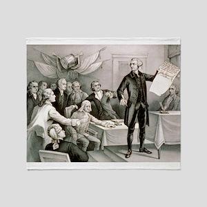 John Hancock's defiance - July 4th 1776 - 1876 Thr