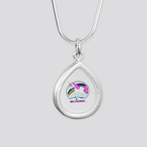 I'm Special Funny Unicorn Silver Teardrop Necklace