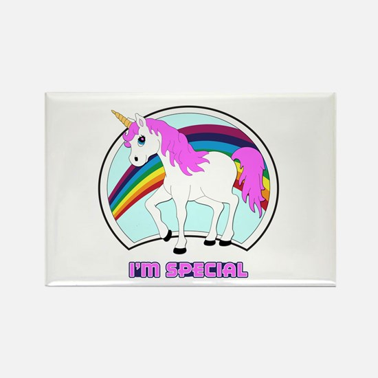 I'm Special Funny Unicorn Rectangle Magnet