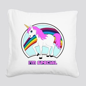 I'm Special Funny Unicorn Square Canvas Pillow