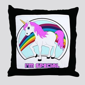 I'm Special Funny Unicorn Throw Pillow