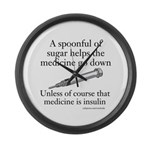 Sugar Medicine Large Wall Clock